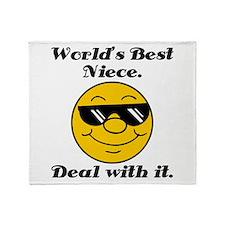 World's Best Niece Humor Throw Blanket
