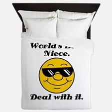 World's Best Niece Humor Queen Duvet