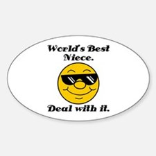 World's Best Niece Humor Sticker (Oval)