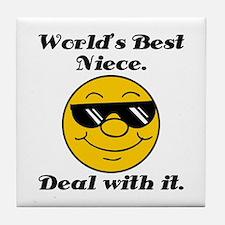 World's Best Niece Humor Tile Coaster