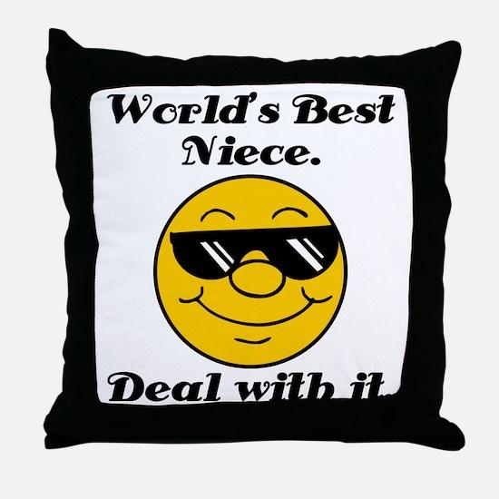 World's Best Niece Humor Throw Pillow
