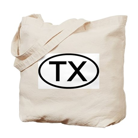 TX Oval - Texas Tote Bag