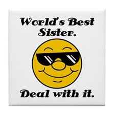 World's Best Sister Humor Tile Coaster