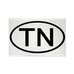TN Oval - Tennessee Rectangle Magnet