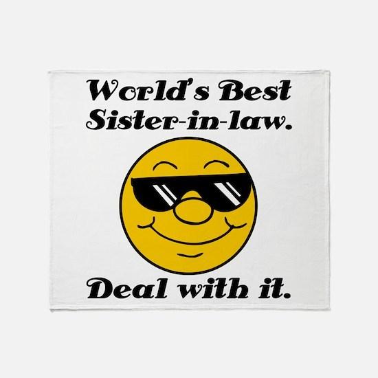 World's Best Sister-In-Law Humor Throw Blanket