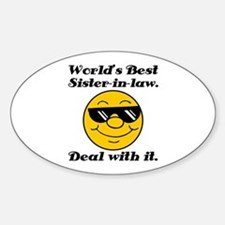 World's Best Sister-In-Law Humor Decal