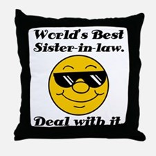World's Best Sister-In-Law Humor Throw Pillow