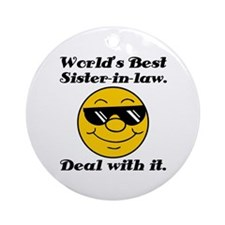 World's Best Sister-In-Law Humor Ornament (Round)