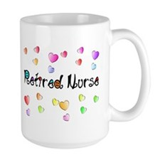 Retired Nurse Gingham hearts Mug