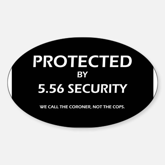 5.56 Security Oval Decal
