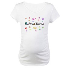 Retired Nurse Gingham hearts Shirt