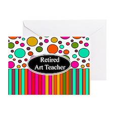 RETIRED ART TEACHER 3 Greeting Card