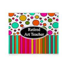 RETIRED ART TEACHER 3 Throw Blanket