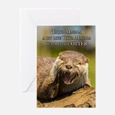 Fun Asian Otter Birthday Greeting Card With Humor