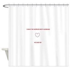 best husband Shower Curtain