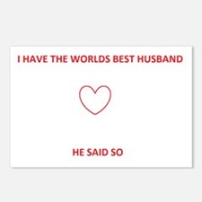 best husband Postcards (Package of 8)