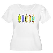 The crazy 5 Plus Size T-Shirt