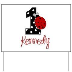 1 Ladybug KENNEDY - Custom Yard Sign