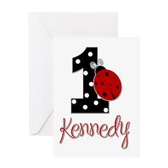 1 Ladybug KENNEDY - Custom Greeting Card