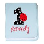 1 Ladybug KENNEDY - Custom baby blanket