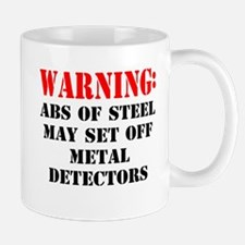 Warning abs of steel metal detectors Mug