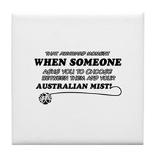 Australian Mist cat gifts Tile Coaster