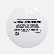 Australian Mist cat gifts Ornament (Round)