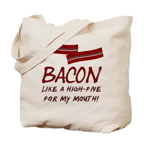 Bacon High-Five For Mouth Tote Bag