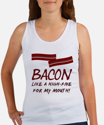 Bacon High-Five For Mouth Women's Tank Top