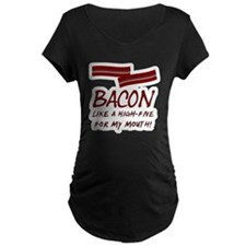 Bacon High-Five For Mouth T-Shirt