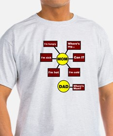 Mom Dad Flow Chart Diagram T-Shirt