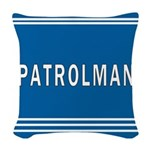patrolman blues mousepad.jpg Woven Throw Pillow