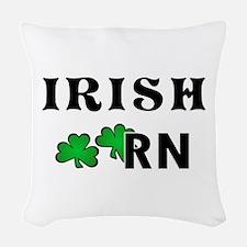 Irish Nurse RN Woven Throw Pillow