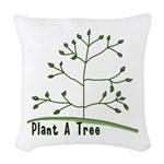 Plant A Tree Woven Throw Pillow