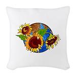 Sunflower Planet Woven Throw Pillow