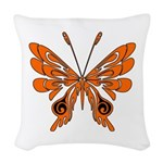 'Butterfly Tattoos Woven Throw Pillow