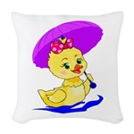 Baby Duck Woven Throw Pillow