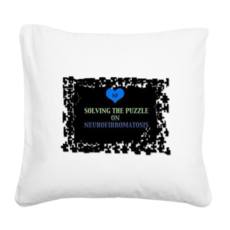 NF AWARENESS - BLACK Square Canvas Pillow