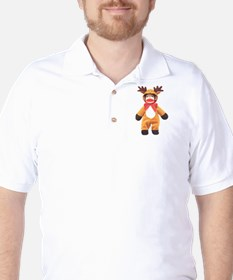 Reindeer Sock Monkey T-Shirt