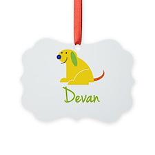 Devan Loves Puppies Ornament