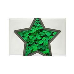 Star Clover Rectangle Magnet