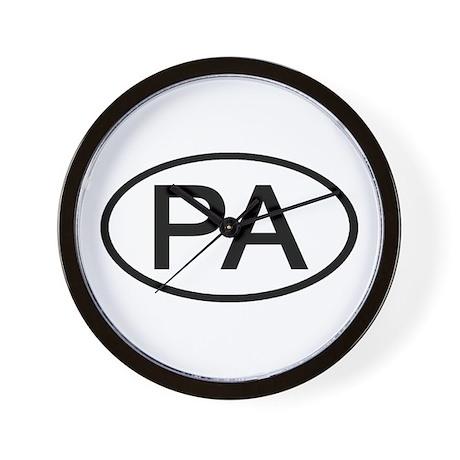 PA Oval - Pennsylvania Wall Clock