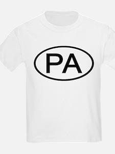 PA Oval - Pennsylvania Kids T-Shirt