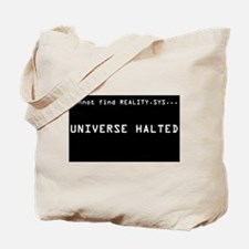 REALITY.SYS:  Tote Bag