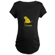 Duncan Loves Puppies Maternity T-Shirt