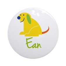 Ean Loves Puppies Ornament (Round)