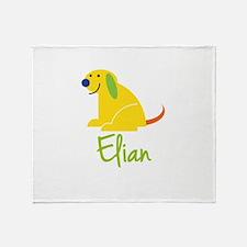 Elian Loves Puppies Throw Blanket