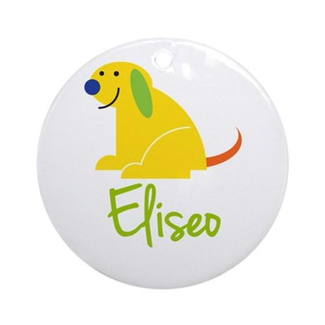 Eliseo Loves Puppies Ornament (Round)
