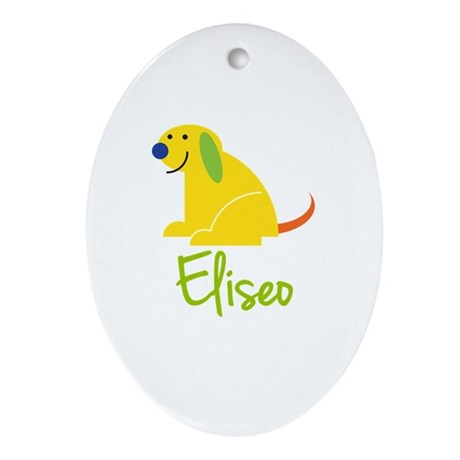 Eliseo Loves Puppies Ornament (Oval)