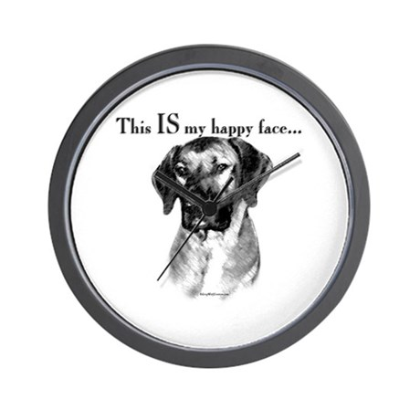 Ridgeback Happy Face Wall Clock